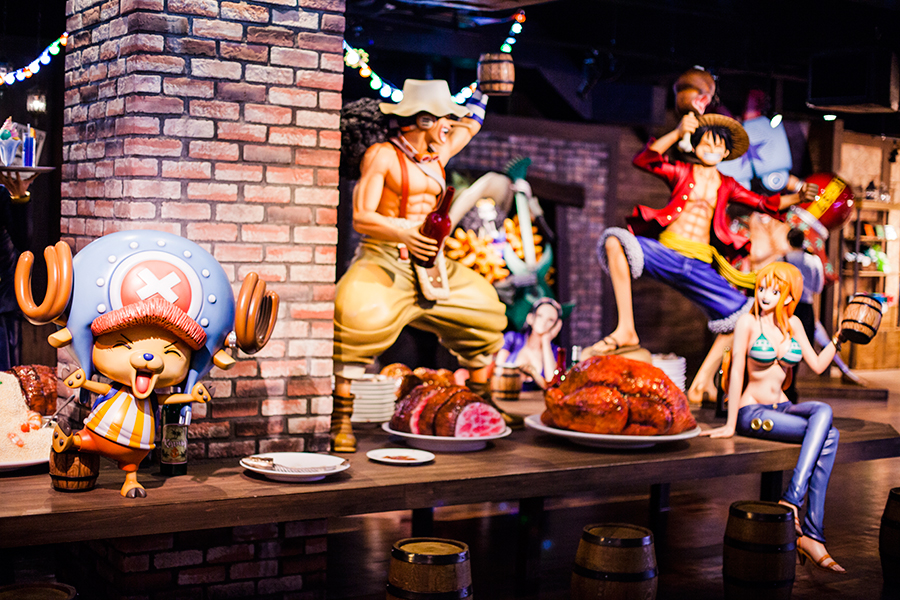 Feasting with the Straw Hat Crew at One Piece Tower, Tokyo Tower Japan.