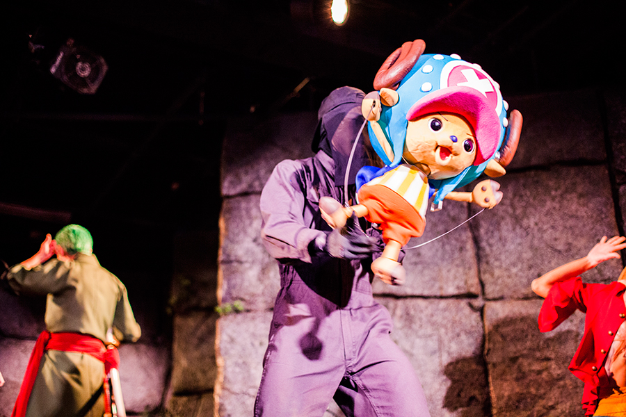 Performer puppeting Chopper at the One Piece Live Attraction Show at One Piece Tower, Tokyo Tower Japan.