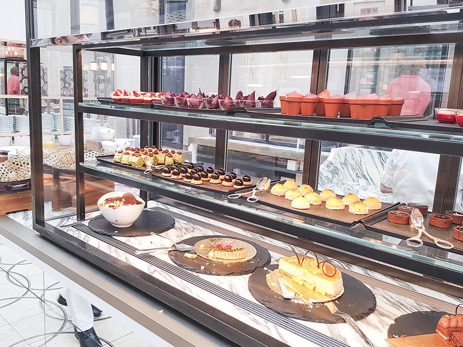 Array of desserts at Ritz Carlton Colony High Tea.
