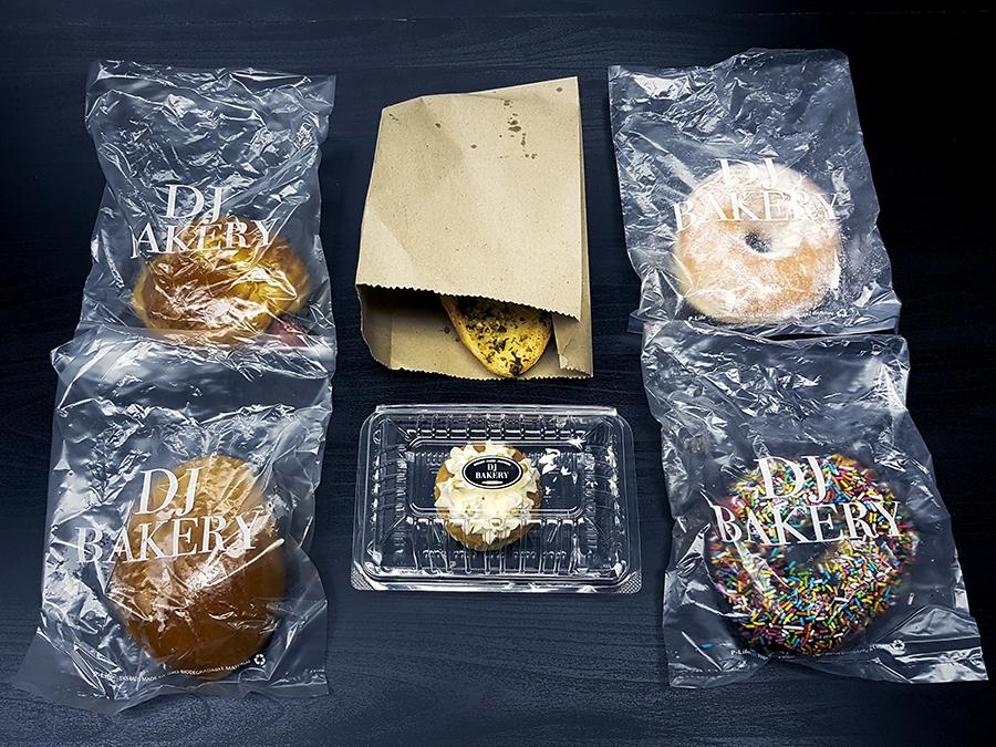 Baked goods from DJ Bakery.