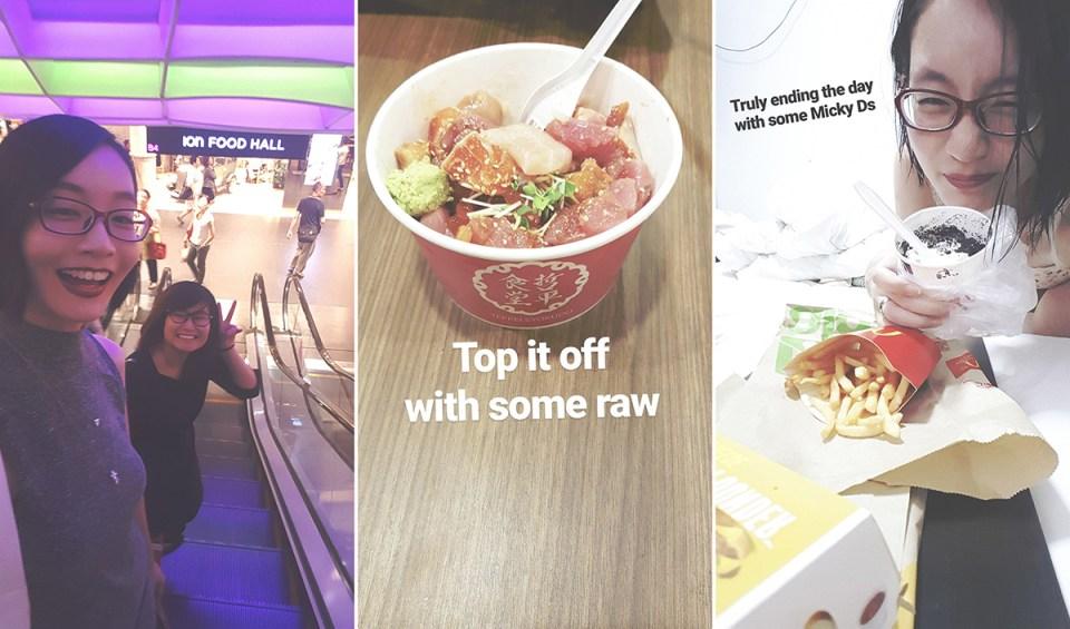 Post-event nommings: Teppei Syokudo Chirashi don at Food Ion Orchard, Mcdonalds.