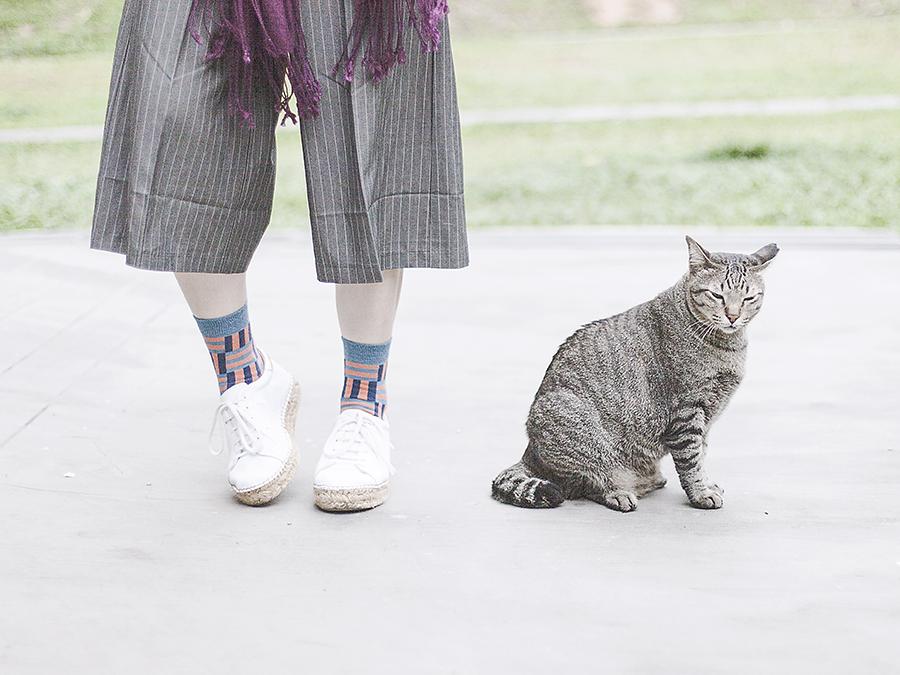 Zalora cropped pants, Sammy Icon Dekart socks, Kurt Geiger Lovebug sneakers.