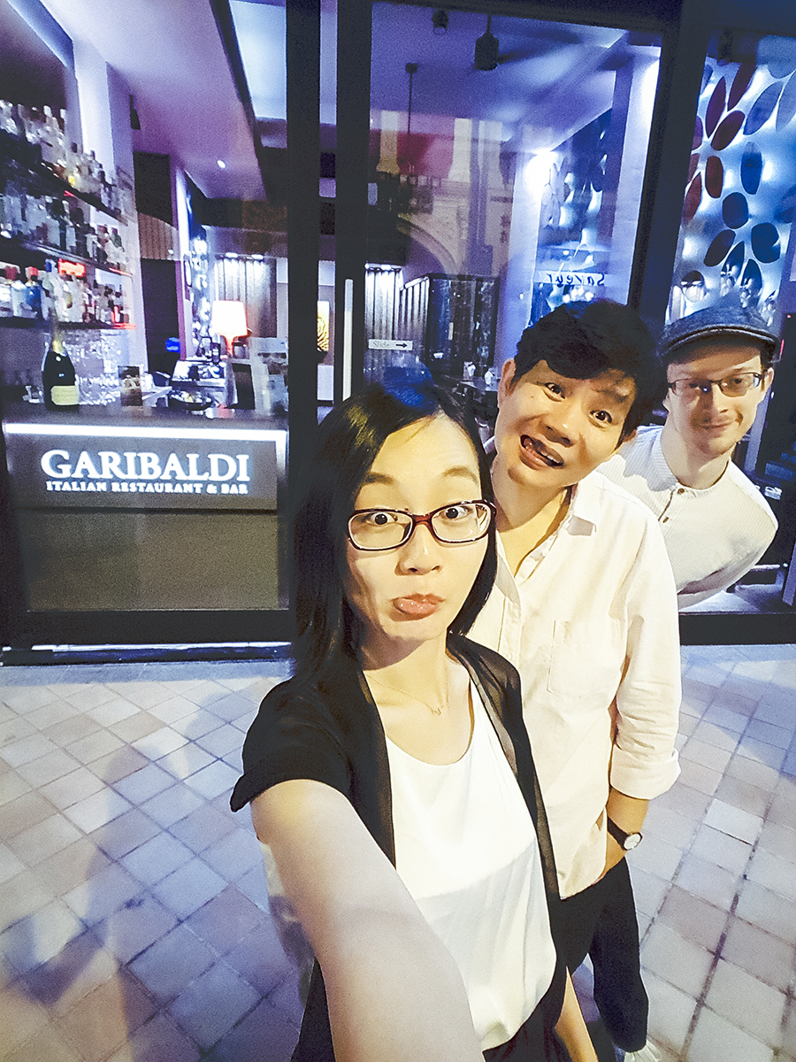 Wefie at Garibaldi Italian Restaurant & Bar, Singapore.