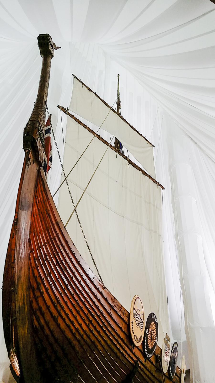 The Hjemkomst in a museum in Moorhead, Minnesota.