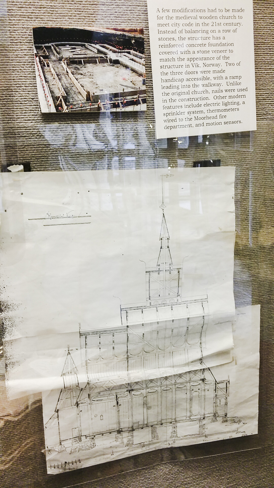 Stavkirke plans, Moorhead Minnesota USA.