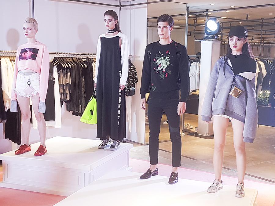 URBAN REVIVO at Raffles City media launch fashion runway