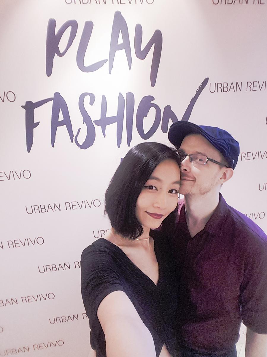 Selfie at the URBAN REVIVO at Raffles City media launch.