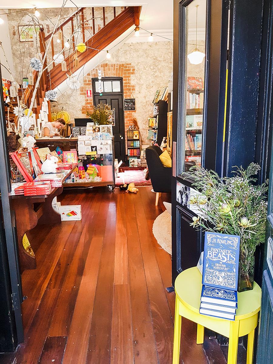 Paper Bird Children's Books & Arts bookstore in Fremantle Perth Australia.