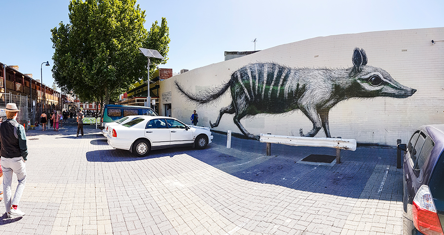Mural in Fremantle, Perth, Australia.