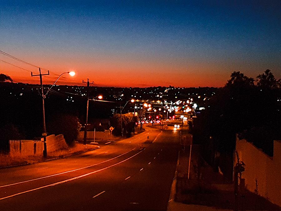 Beautiful twilight sky in Perth Australia.