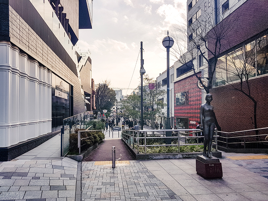 Street in Harajuku Tokyo.