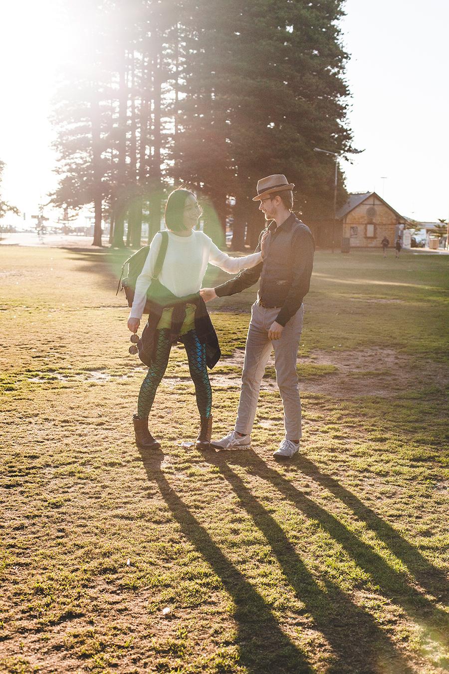 Ren and Ottie in a park at Fremantle Perth Australia.