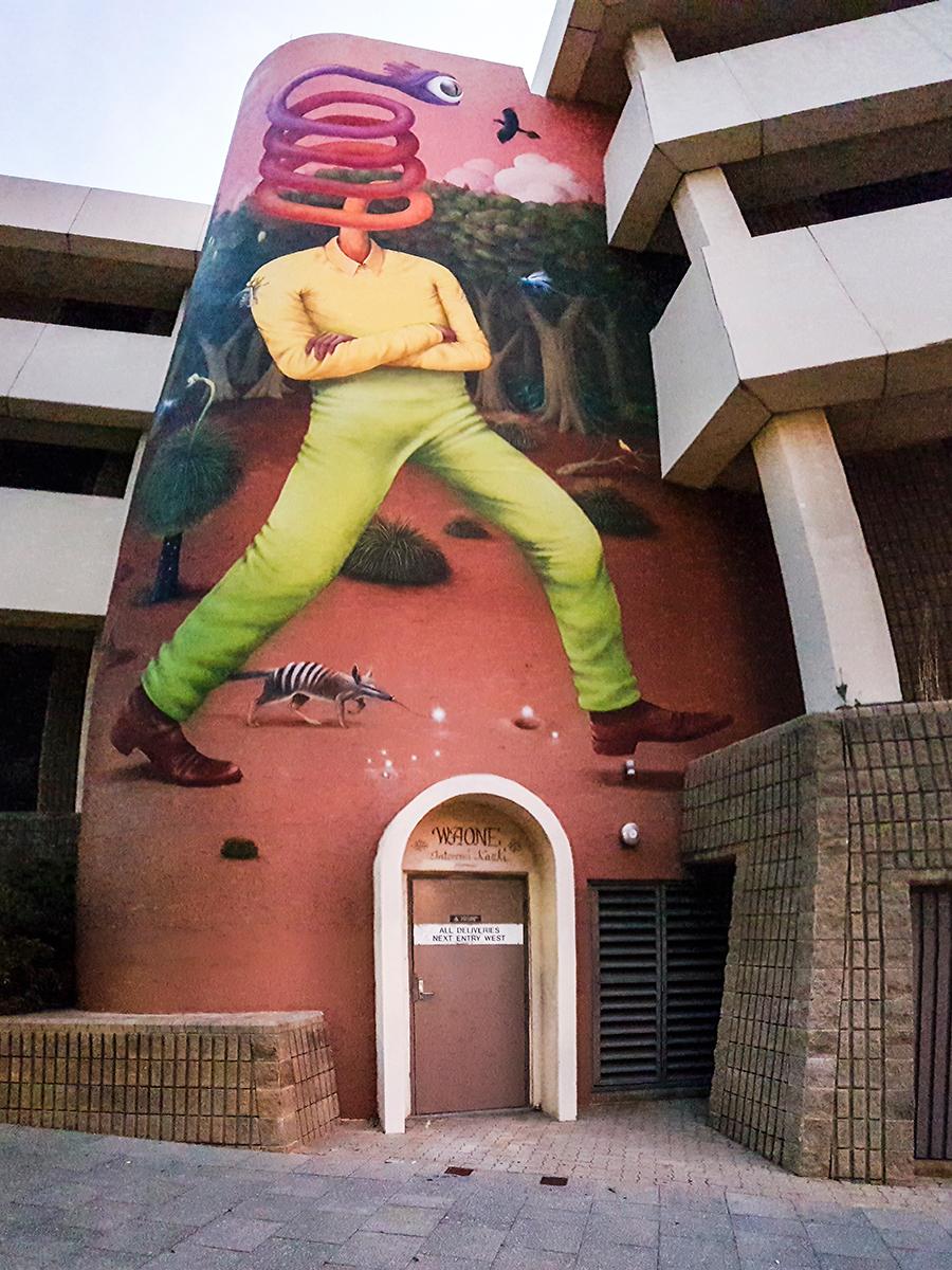 Quirky mural in Perth, Australia.