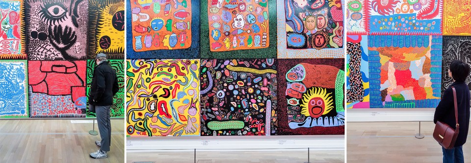 Yayoi Kusama My Eternal Soul exhibit at Tokyo Art Center.