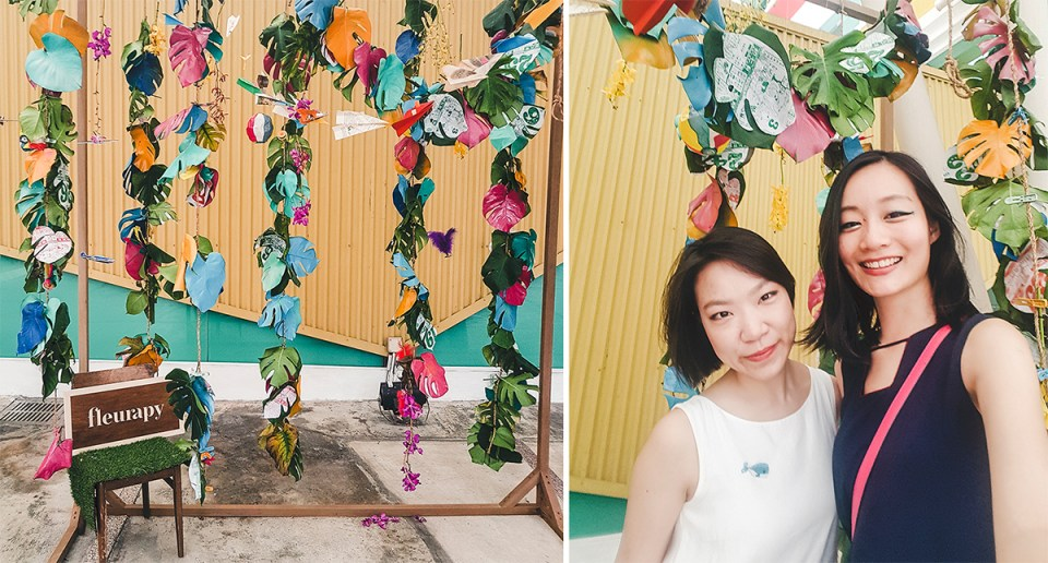 Fleurapy floral exhibit at the Singapore Art Museum.