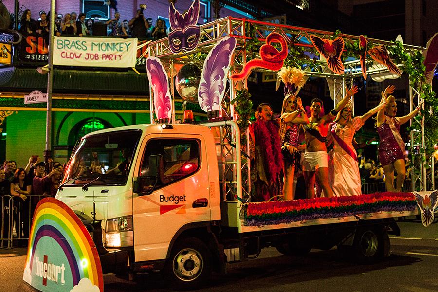 #LoveWins Pride Parade in Perth, Australia.