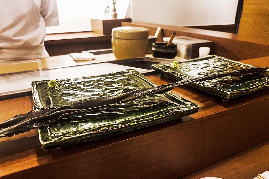 Konbu seaweed in Makoto Sushi.