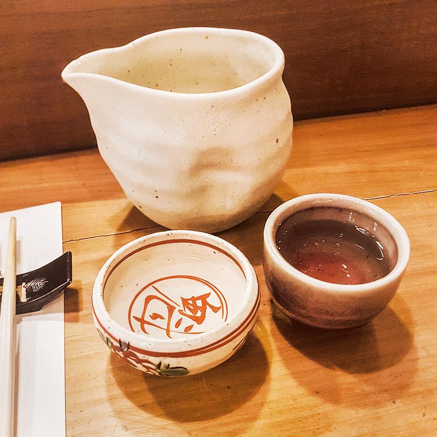 Bakuren sake 300ml in Makoto Sushi.