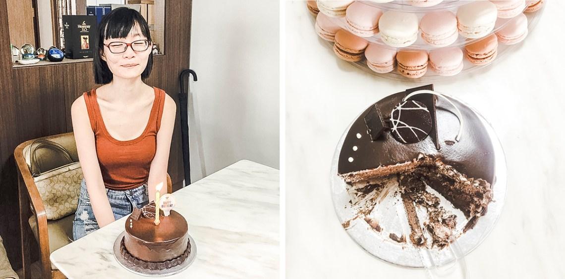 Surprise birthday cake.