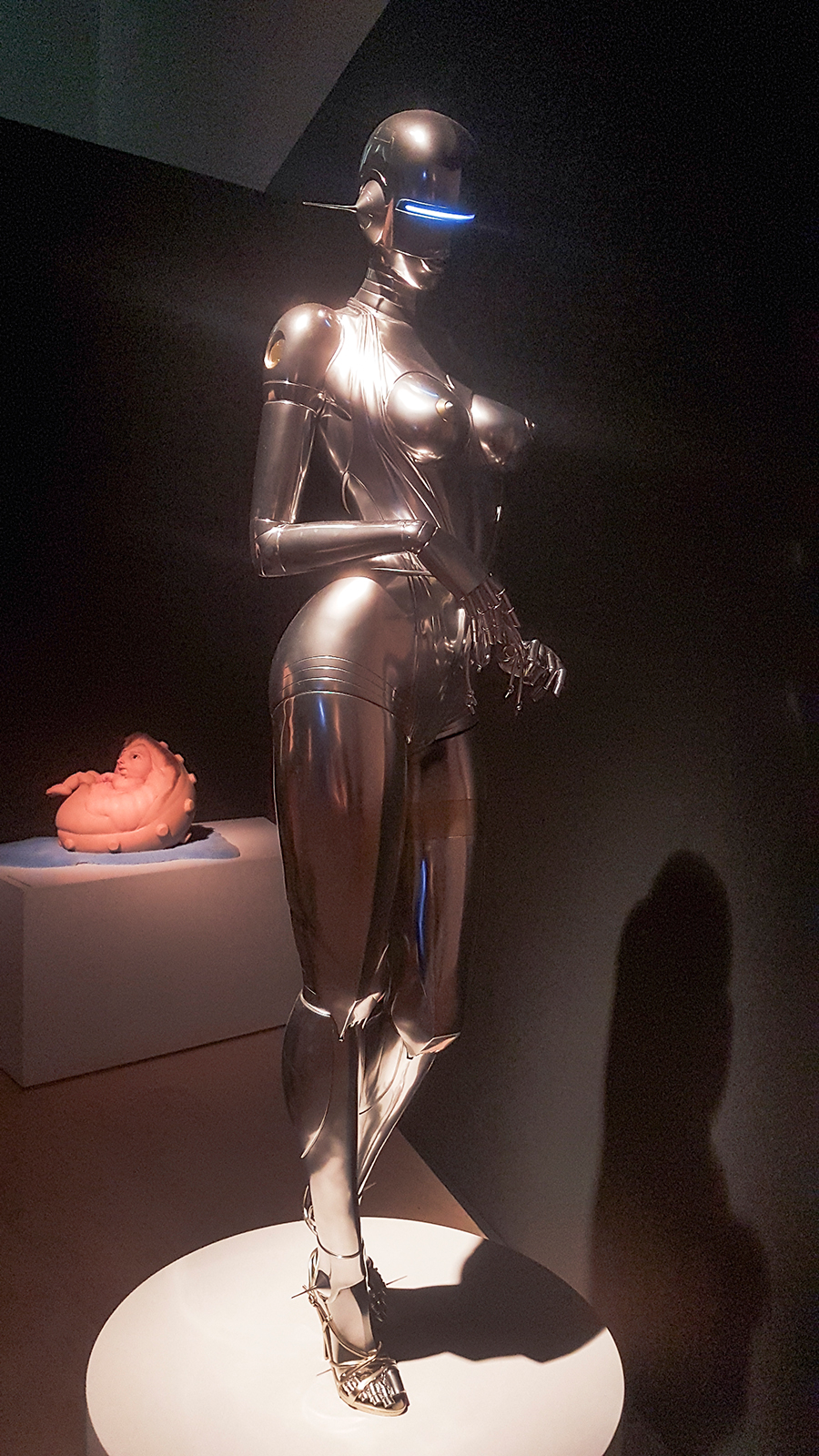 Sexy Robot by Hajime Sorayama at the The Universe and Art: An Artistic Voyage Through Space exhibition, ArtScience Museum Singapore.