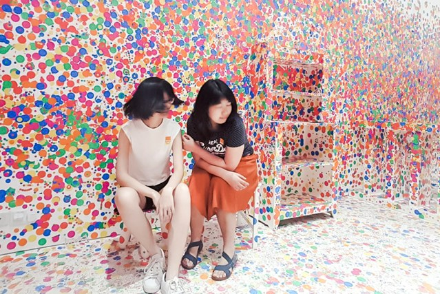 The Obliteration Room by Yayoi Kusama for the Children's Season at National Gallery Singapore.