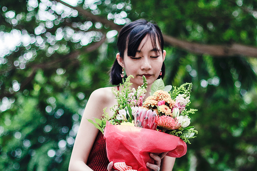 The Sylvia flower bouquet from A Better Florist.