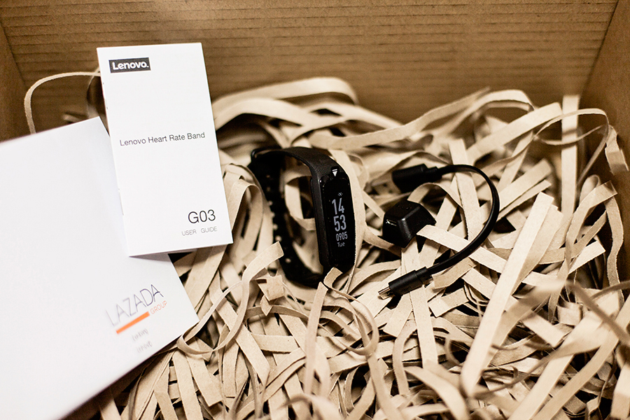 Lenovo x Lazada Online Revolution 2017 Surprise Box: Lenovo Heart Rate Band G03.