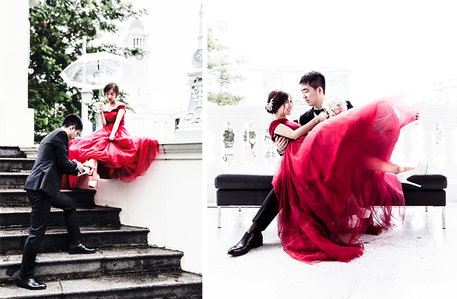 Prewedding photoshoot for RJ & JR, Singapore.