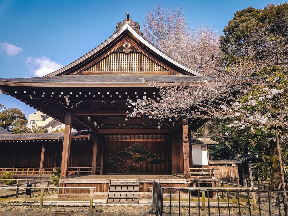 Yasukuni Shrine in Spring: Cherry Blossom Season.