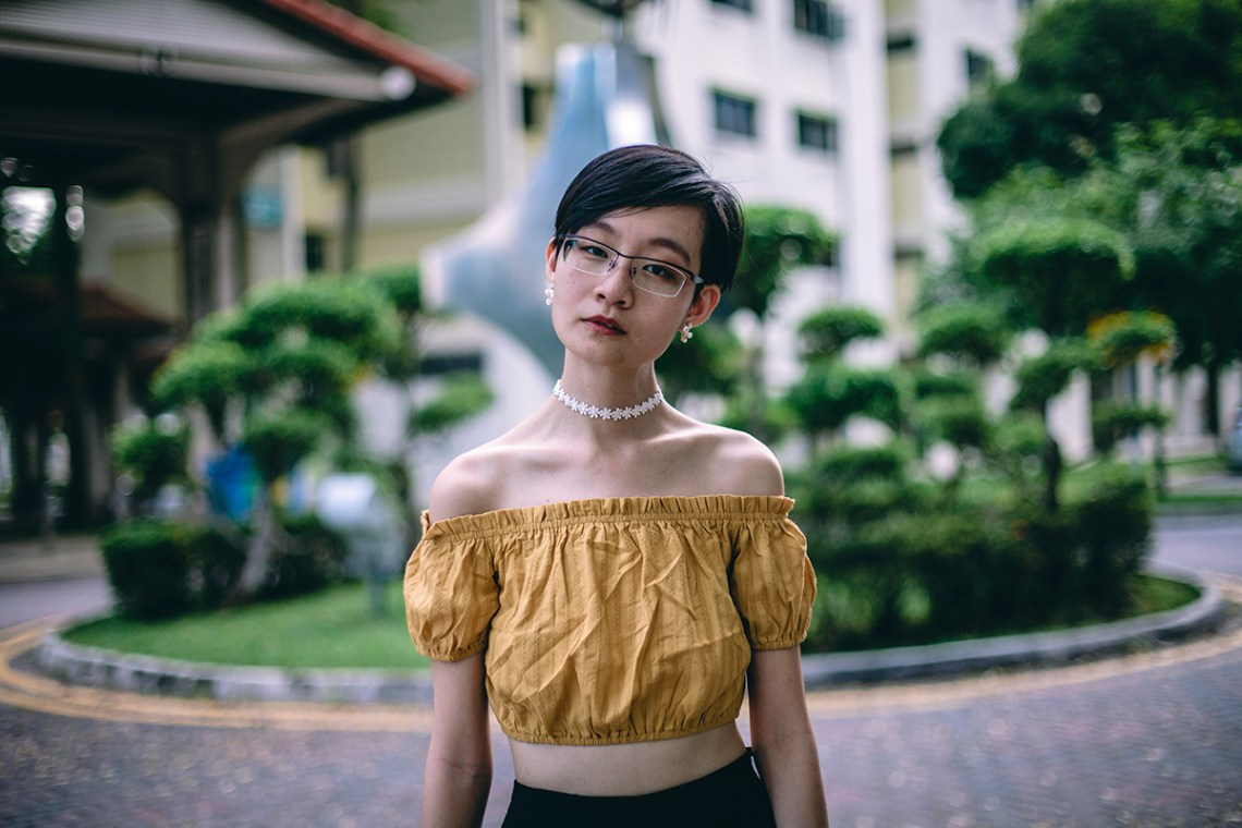 Zaful off shoulder crop top, Zaful floral lace choker, OWNDAYS prescription glasses.