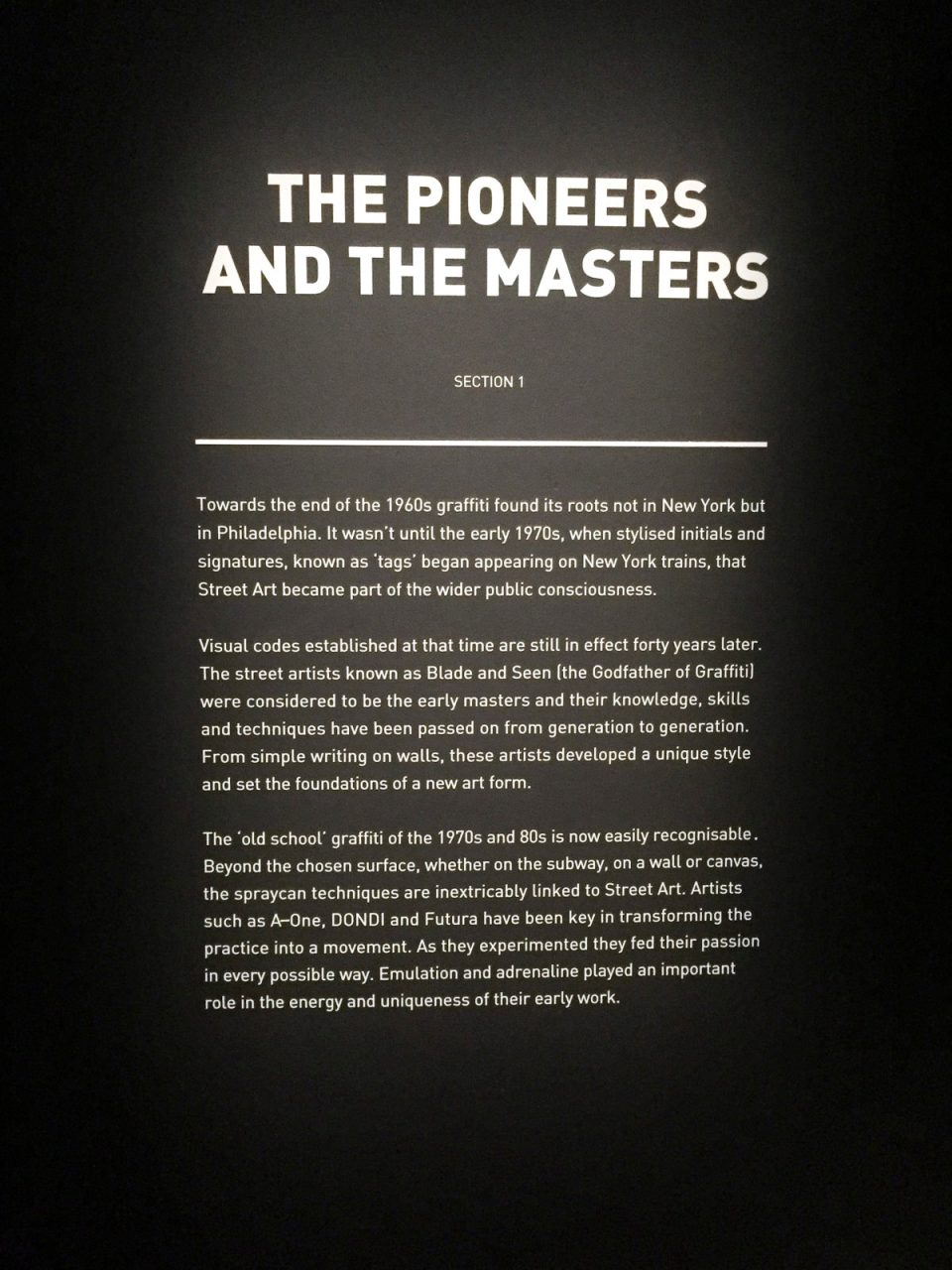 The Pioneers and the Masters at Art From the Streets exhibition at the ArtScience Museum, Singapore.