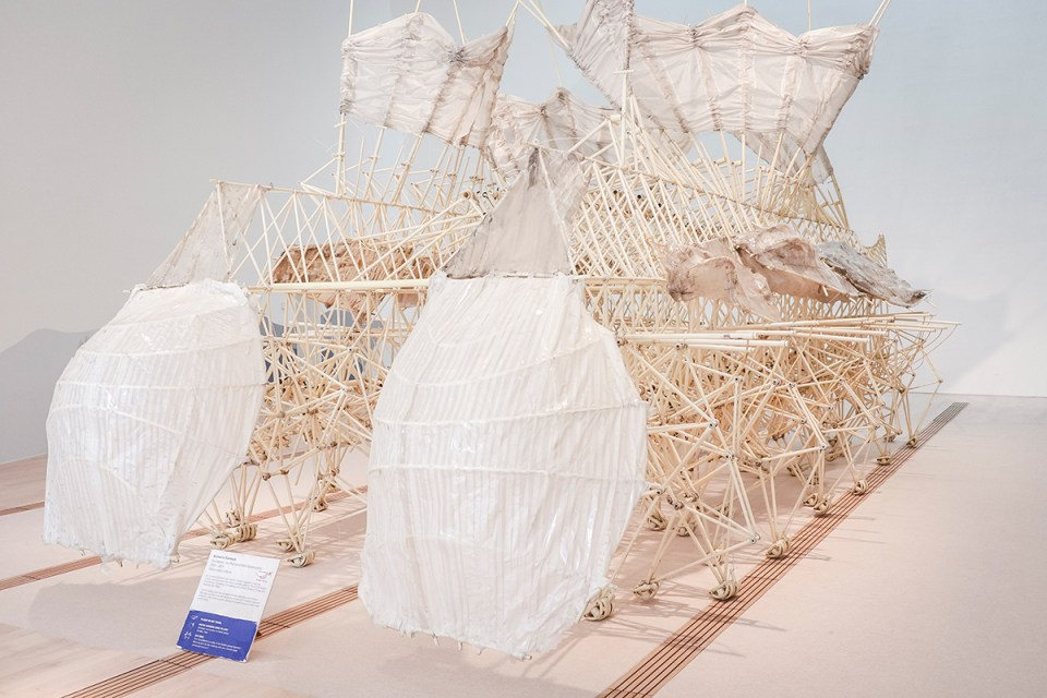 Wind Walkers: Theo Jansen's Strandbeests at the ArtScience Museum, Singapore.