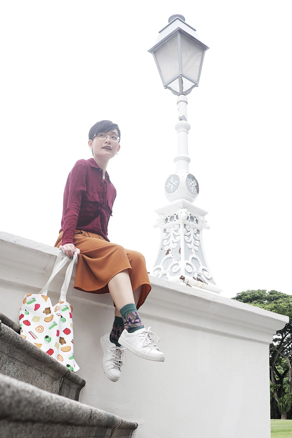 OOTD: Pomelo Fashion blouse, Mango pants, OWNDAYS glasses, Paper Planes sneakers.