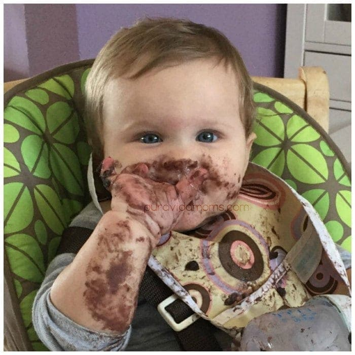 My younger daughter enjoying Costa Rican-style black beans!
