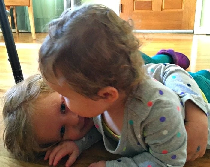 Crushing Little Sister with hugs!