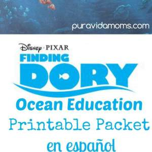 Disney/Pixar Buscando a Dory paquete imprimible en español / Finding Dory Educational Printable Packet in Spanish