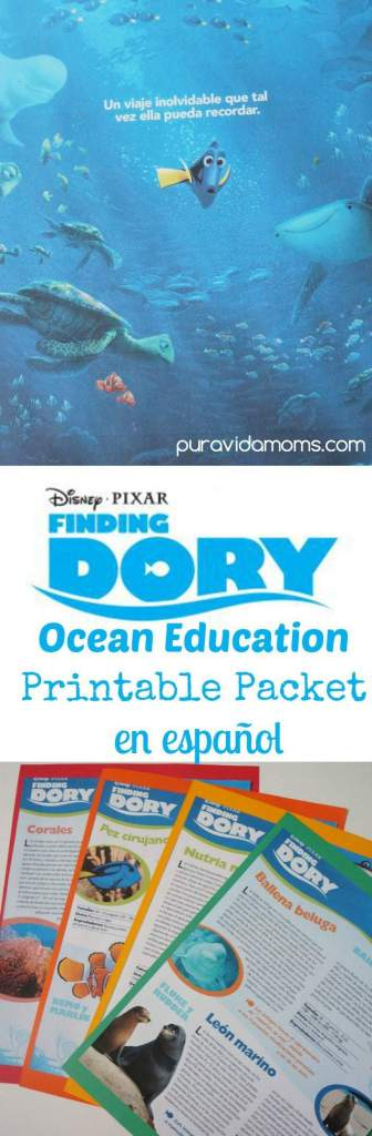 Finding Dory Ocean Education Printable In Spanish