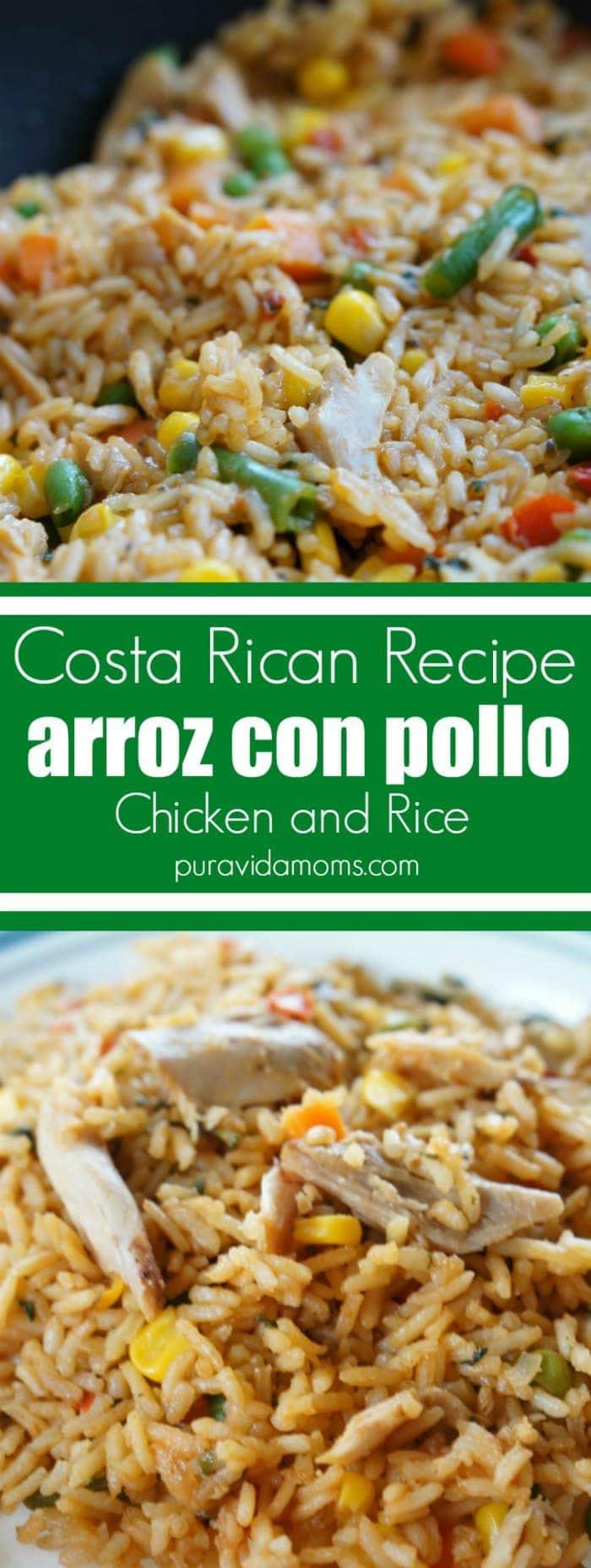Costa Rican Arroz Con Pollo Chicken and Rice Recipe