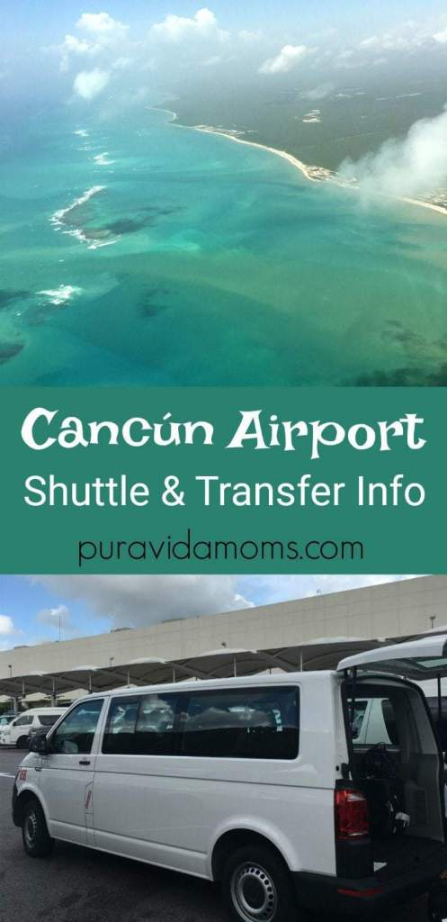 Information for transfers from CAncun Airport to area towns and hotels