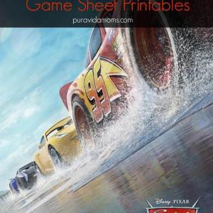 Cars 3 Activity Printables {Movie Ticket Giveaway}