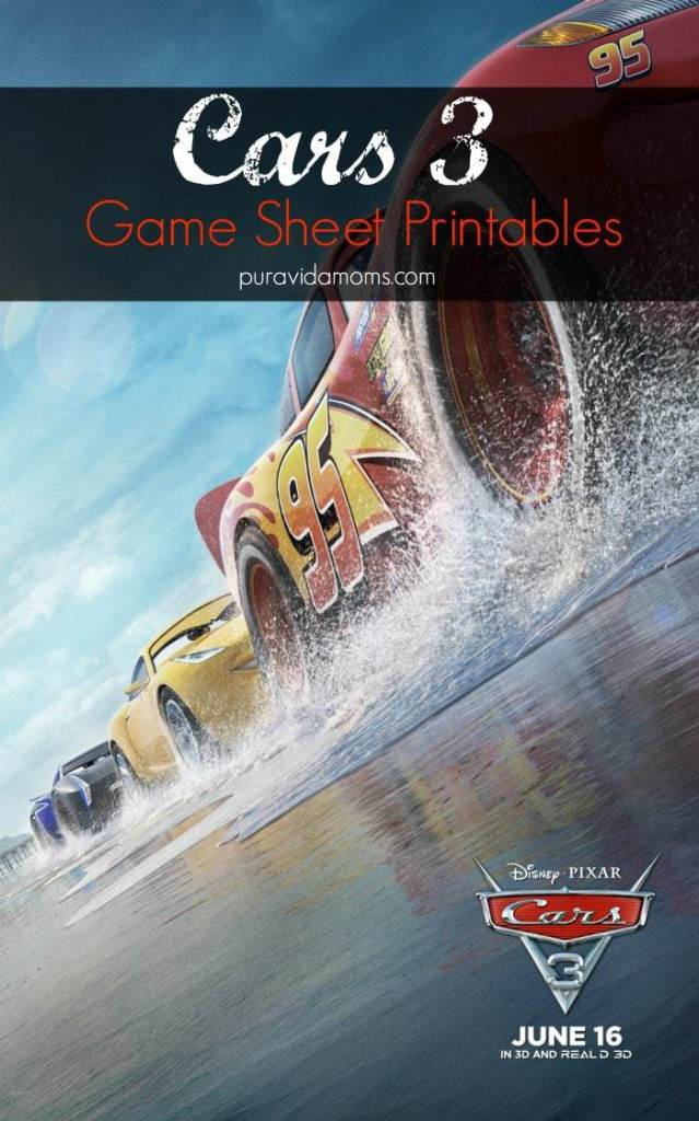 cars 3 printables activity sheets for all afges