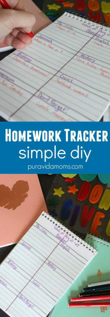 homework tracker simple diy pura vida moms