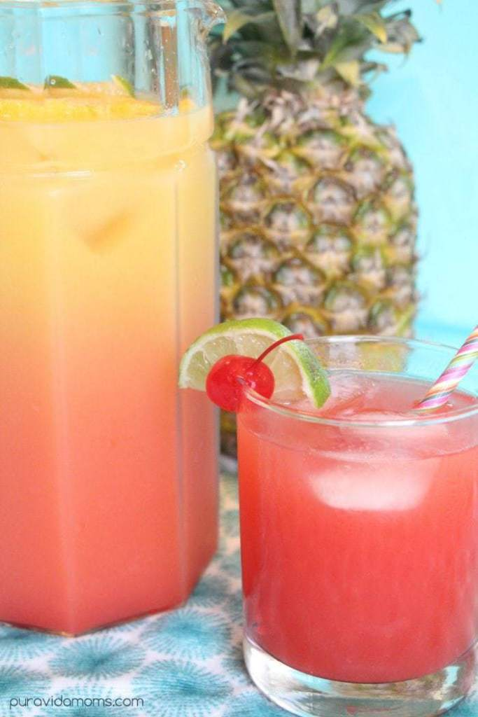 pitcher of rum punch recipe
