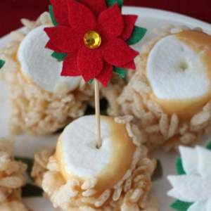 Easy No Bake Caramel Marshmallow Krispie Treats