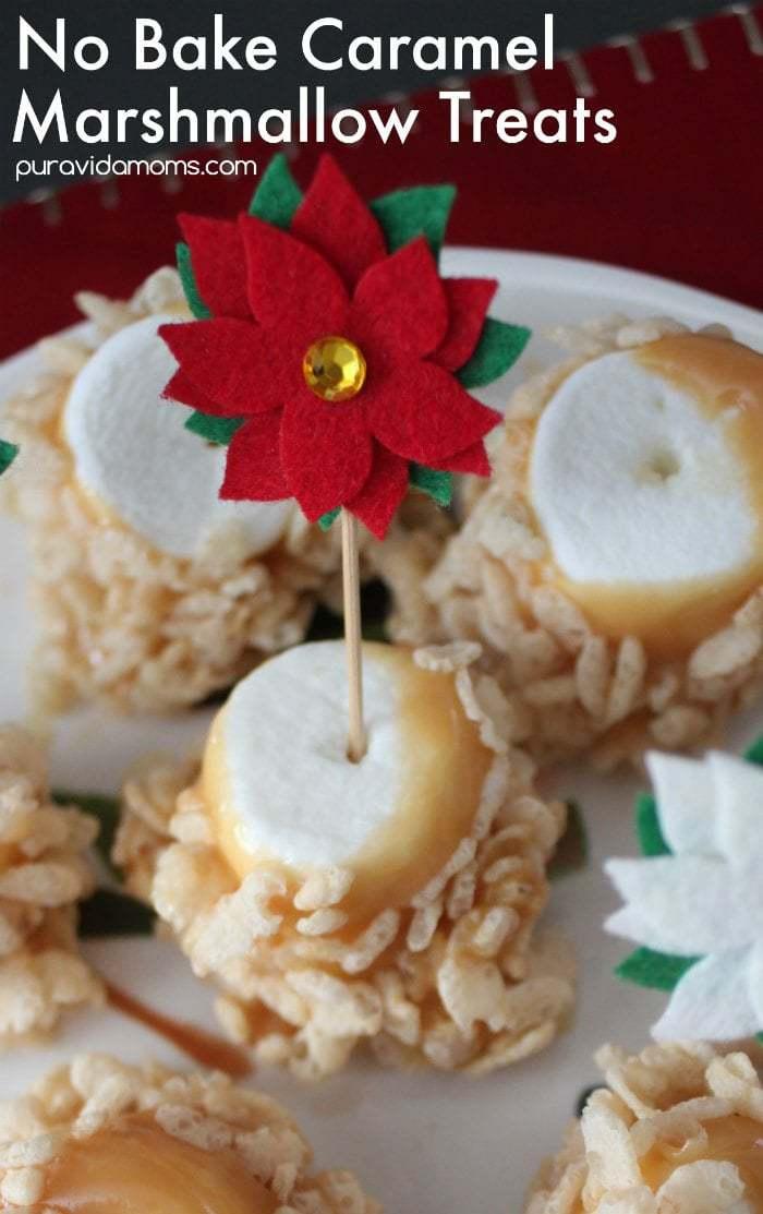 No Bake Caramel Marshmallow Treats