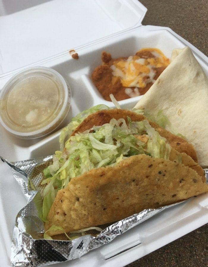 Tacos at El Parasol Santa Fe