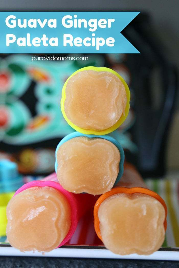 Anytime is a great time for paletas- popsicles! This guava ginger paleta recipe is super easy, not overly sweet, and perfectly refreshing for kids and adults alike!