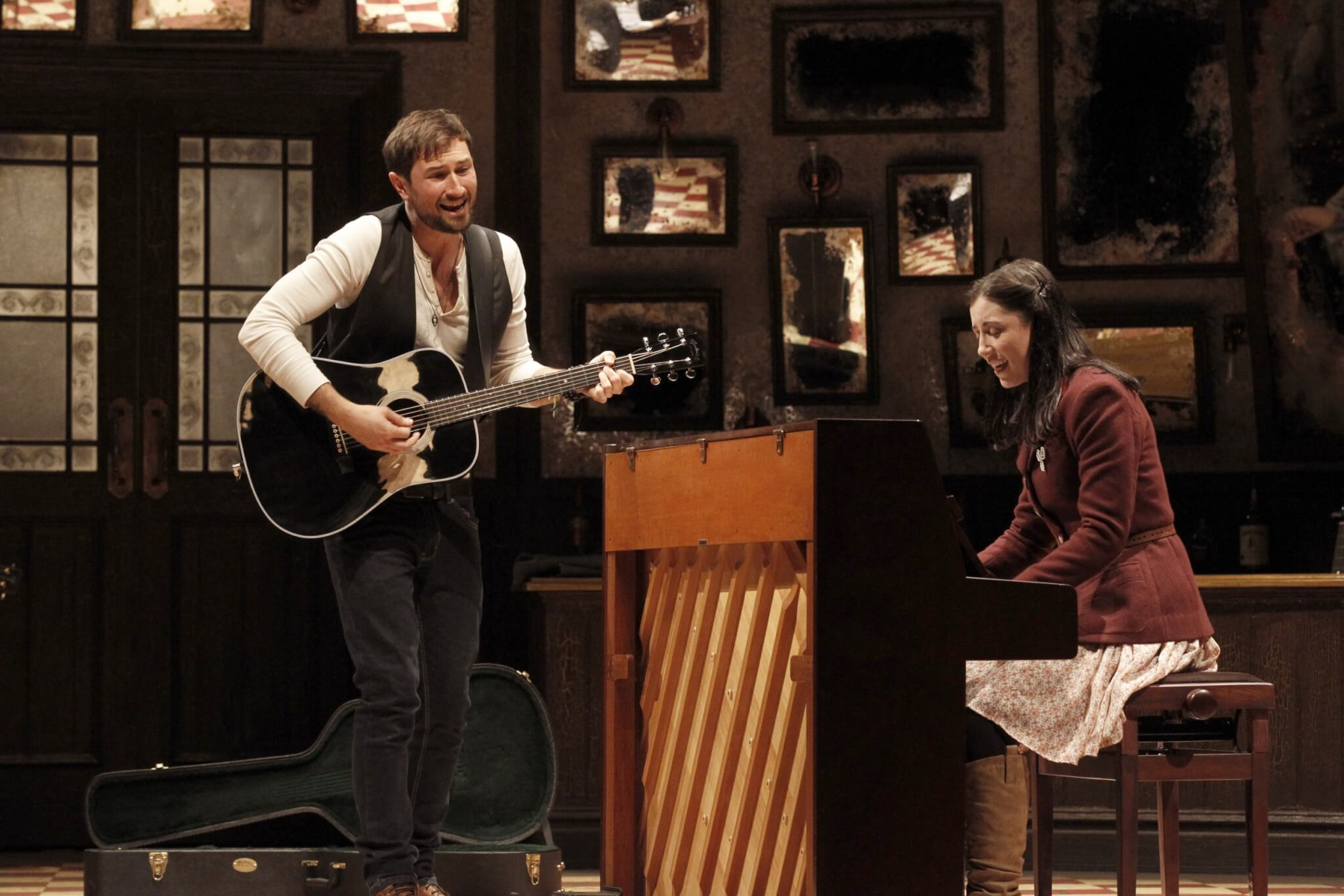The cast of Once playing their own instruments
