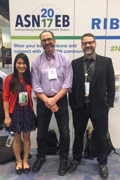 Me with my advisor and my lab mate at the American Society of Nutrition meeting 2017 in Chicago.