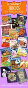 infographic of Halloween books for preschoolers